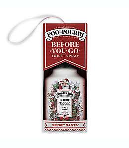Desodorante en aerosol Poo-Pourri® Before You Go® Secret Santa® para inodoro aroma canela, vainilla y cítricos