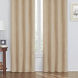 Faux Suede Room Darkening Window Curtain Panel Collection