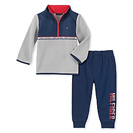 Tommy Hilfiger® 2-Piece Fleece Long Sleeve Top and Jogger Set in Grey