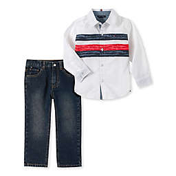 Tommy Hilfiger® 2-Piece Button-Up Top and Jean Set