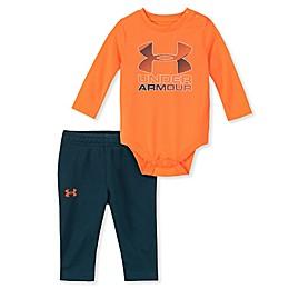Under Armour® 2-Piece Logo Bodysuit and Pant Set in Orange