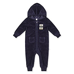 Petit Lem® Ribbed Hooded Coverall in Blue
