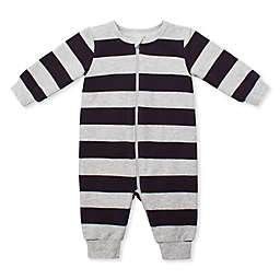 Petit Lem Striped Organic Cotton Coverall in Grey