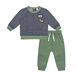 Petit Lem® 2-Piece Sweatshirt and Pant Set in Green/Grey