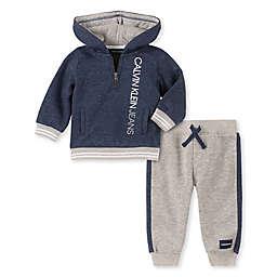 Calvin Klein® 2-Piece Fleece Hoodie and Pant Set in Blue