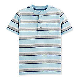 OshKosh B'gosh® Blue Stripe Henley Toddler T Shirt