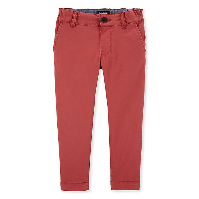 Alternate image 1 for OshKosh B'gosh® Twill Pant in Red