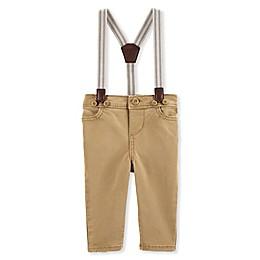 OshKosh B'gosh® Khaki Suspender Pants in Brown