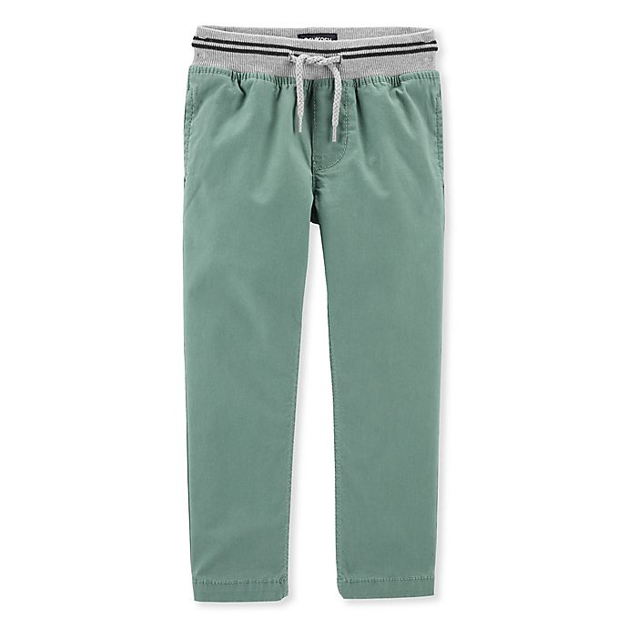 Alternate image 1 for OshKosh B'gosh® Cross Country Pant in Green