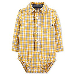 OsghKosh B'gosh® Woven Plaid Bodysuit in Yellow
