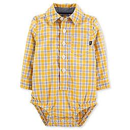 OsghKosh B'gosh® Woven Plaid Bodysuit in Yellow