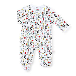 EMC2 Playful Panda Magnetic Footie in White