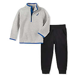 Nautica® 2-Piece Fleece Sweater and Pant Set in Grey
