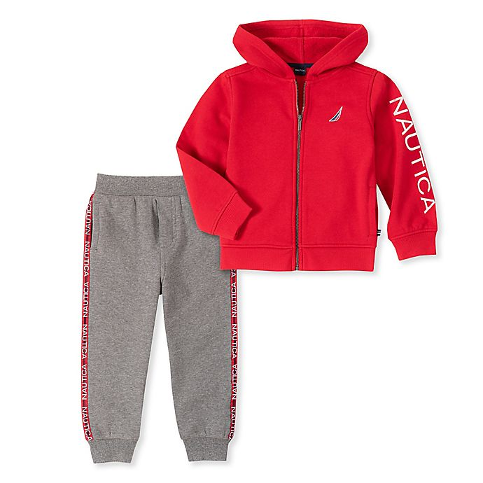 Alternate image 1 for Nautica 2-Piece Hoodie and Jogger Set in Red