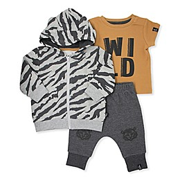 Mini Heroes™ 3-Piece Wild Jacket, Shirt, and Pant Set in Grey