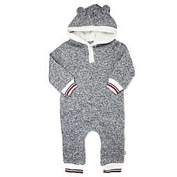 Mini Heroes™ Hacci Hooded Coverall in Grey