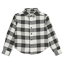 Sovereign Code® Plaid Button-Up Top in Black