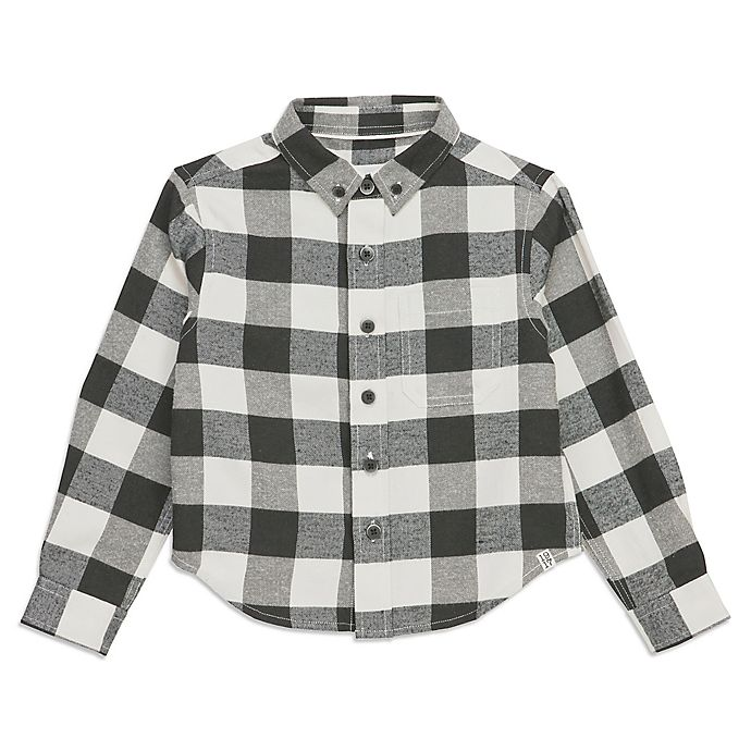 Alternate image 1 for Sovereign Code® Plaid Button-Up Top in Black