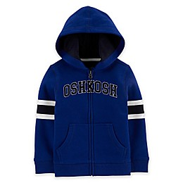 OshKosh B'gosh® Zip Front Logo Hoodie in Royal Blue