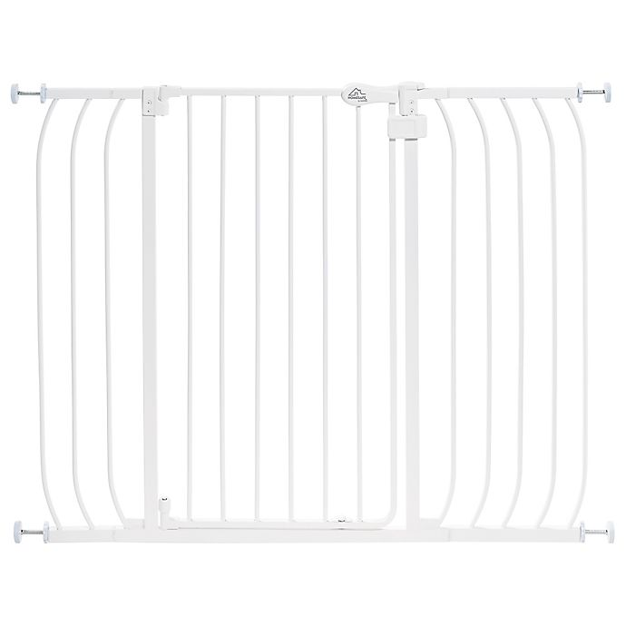 Alternate image 1 for HOMESAFE™ by Summer Infant® Multi-Use Extra Tall Walk-Thru Gate in White