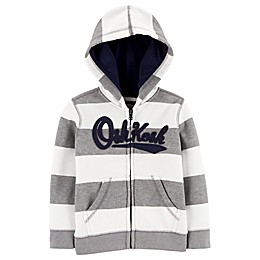 OshKosh B'gosh® Striped Logo Hoodie in Grey