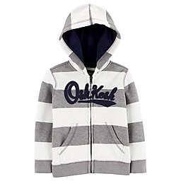 OshKosh B'gosh® Striped Logo Hoodie in Grey
