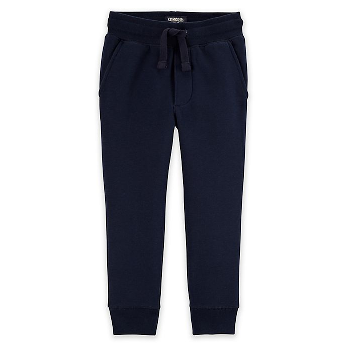 Alternate image 1 for OshKosh B'gosh® Classic Fit Fleece Pant in Navy
