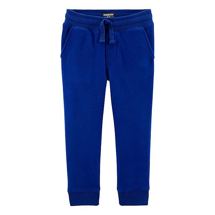 Alternate image 1 for OshKosh B'gosh® Classic Fit Fleece Pant in Royal Blue