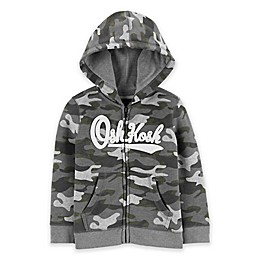 OshKosh B'gosh® Camo Logo Hoodie in Grey