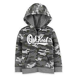 OshKosh B'gosh® Camo Logo Hoodie in Grey