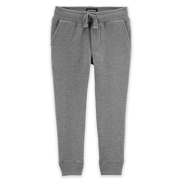 Alternate image 1 for OshKosh B'gosh® Classic Fit Fleece Pant in Heather Grey