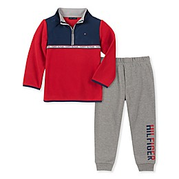 Tommy Hilfiger® 2-Piece Fleece Top and Pant Set in Red