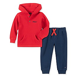 Tommy Hilfiger® 2-Piece Thermal Top and Pant Set in Red
