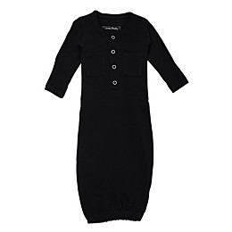 L'ovedbaby® Organic Cotton Gown in Black