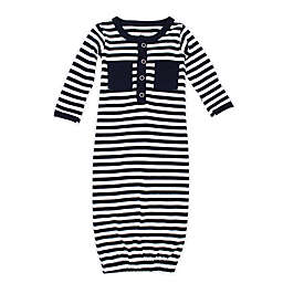 L'ovedbaby® Preemie Striped Organic Cotton Gown in Navy/White