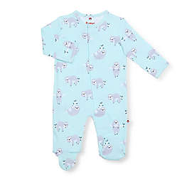 EMC2 Sleepy Sloth Magnetic Footie in Mint