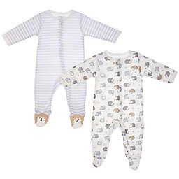 Vitamins Baby 2-Pack Hedgehog Footie in White