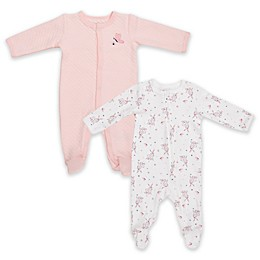 Vitamins Baby 2-Pack Quilted Butterfly Footies