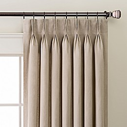 Linen Pinch Pleat/Back Tab Window Curtain Panel