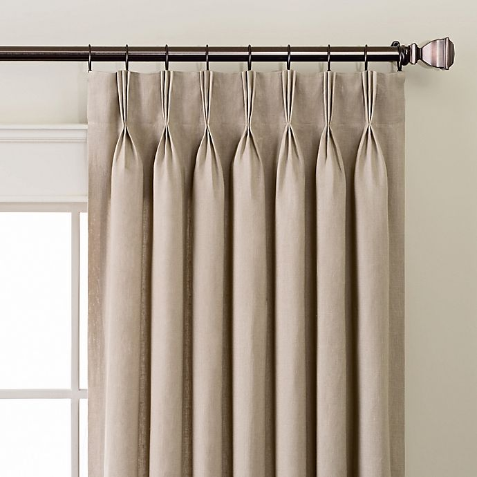Linen Pinch Pleat/Back Tab Window Curtain Panel