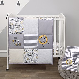 Little Love by NoJo® Roarsome Lion 3-Piece Mini Crib Bedding Set in Yellow/Grey