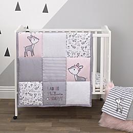 Little Love by NoJo® Sweet Deer 3-Piece Mini Crib Bedding Set in Pink/Grey