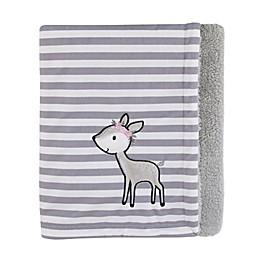 Little Love by NoJo® Sweet Deer Blanket in Pink/Grey