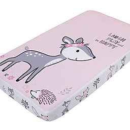 Little Love by NoJo® Sweet Deer Fitted Crib Sheet in Pink/Grey