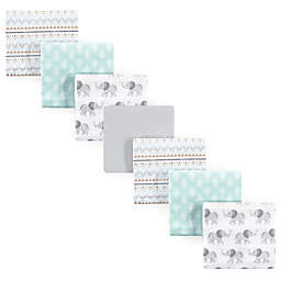 Hudson Baby® 7-Pack Elephant Flannel Receiving Blankets in Grey