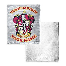 Harry Potter Gryffindor Quidditch Player Personalized Silk Touch Sherpa Throw Blanket