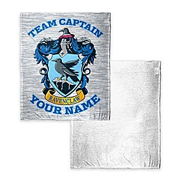 Harry Potter Ravenclaw Quidditch Player Personalized Silk Touch Sherpa Throw Blanket