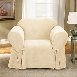 Sure Fit® Soft Suede Wingback Chair Cover