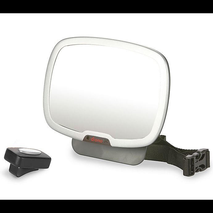 Alternate image 1 for Diono® Easy View Plus™ Rear Facing Mirror in Black/Silver