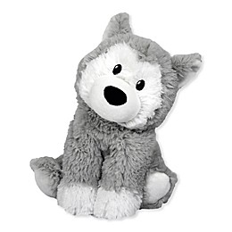 Warmies® Husky Microwaveable Lavender Plush Toy in Grey